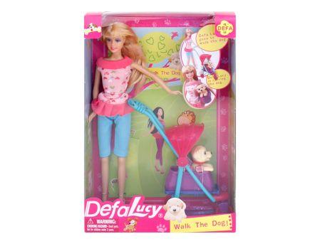 """Кукла """"Defa"""" с собачкой в коляске, в/к 21,5*31,5*7 см ..."""