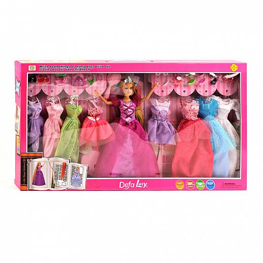 """Кукла принцесса """"Defa"""" с платьями и аксессуарами,высота 30 ..."""